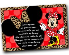Hey, I found this really awesome Etsy listing at https://www.etsy.com/listing/154927555/minnie-mouse-thank-you-card-minnie-mouse