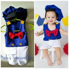 Disfraz de pato donald para bebe Donald Duck costume for baby   https://m.facebook.com/malustreasurebox?ref=bookmarks