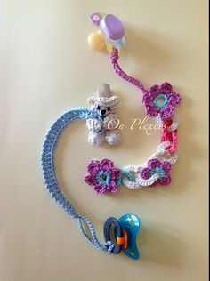Crochet Pacifier Clip Pacifier Holder for Boys and by Ouplexeis