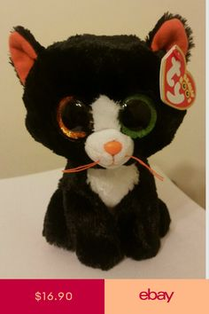 74ceb5030e2 Ty Beanie Boos VIOLET leopard 6 inch NWMT.Claire s Exclusive. New ...