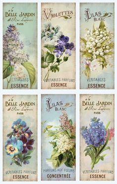 Items similar to Shabby Chic Flowers Bookmarks - Digital Collage Tags -Collage Tags - Hang Tags - Vintage Collage - gift Tags, scrapbooking, mix media on Etsy Vintage Printable, Vintage Tags, Vintage Diy, Vintage Labels, Vintage Ephemera, Vintage Paper, Vintage Postcards, Vintage Prints, Decoupage Vintage