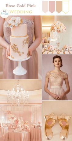 Rose Gold Pink Wedding Inspiration – KnotsVilla