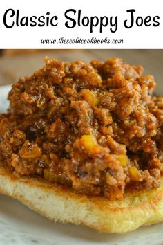 These Classic Sloppy Joes are made with just a few simple ingredients and can be served as a sandwich or used as a topping on a baked potato or sweet potato groundbeef sloppyjoes Sloppy Joe Recipe Pioneer Woman, Classic Sloppy Joe Recipe, Best Sloppy Joe Recipe, Homemade Sloppy Joe Recipe, Homemade Sloppy Joes, Sloppy Joes Recipe, Sloppy Joe Recipe Ketchup, Simple Sloppy Joe Recipe, Sloppy Joe Recipe Slow Cooker