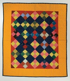 1890-1910 four patch doll quilt - Sara Rhodes Dillow collection