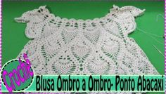 Blusa de Croche Selena Gomez - Gráfico e Tutorial em Vídeo Crochet Collar, Crochet Blouse, Knit Crochet, Crochet Hats, Doll Patterns, Crochet Patterns, Crochet Summer Tops, Selena Gomez, Crochet Videos