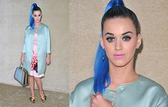 Katy Perry in shocking blue hair