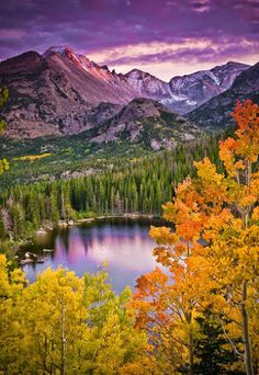 Bear Lake, Colorado,USA!  Bear Lake is a scenic trailhead and destination in Rocky Mountain National Park. Sitting at an elevation of 9,450 feet (2,880 m), the alpine lake rests beneath the sheer flanks of Hallett Peak and the Continental Divide at 40.31324°N 105.648222°W. Several trails, from easy strolls to strenuous hikes, start from the lake. The Bear Lake Road is open year round, though it may temporarily close due to adverse weather conditions. An ample parking lot is provided close to…