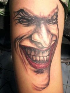 Get Different Tattoos Designs with Cool Joker Tattoos: Cool Red Black Joker Tattoo For Hand ~ Cartoon Tattoos Inspiration
