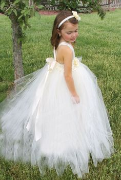 Formal Tutu Gown Flower Girl Dress on Etsy. Can be custom made in any color!!!