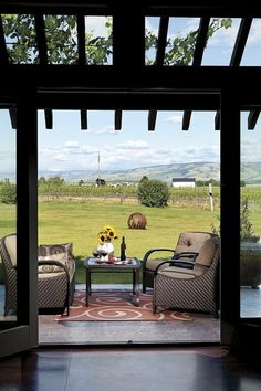 ~~Visiting Walla Walla wine country (list of Walla Walla vineyards to visit) ~ relax on the patio at the Girasol Vineyard and Inn  | Brent Winebrenner~~