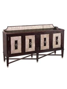 Tuxedo 4-Door Sideboard by John Richard at Gilt. Gorgeous Sideboard ideal for a room featuring pink and purple accents. #affiliatelink #sideboard #sideboardideas #purpledecor