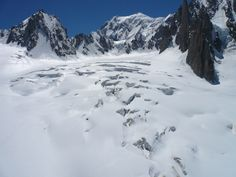 The awesome crevasses of Vallee Blanche
