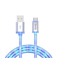 Tenfly USB C Cable 3ft 1M LED Glow in Dark USBC to USBA 30 Charging Cord Sync USB Data Cable for Nexus 6P Nexus 5x LG G5 OnePlus 2 and Other TypeC Devices Type C 1 Pack -- Read more reviews of the product by visiting the link on the image.