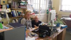Birmingham Museums @BM_AG Kenny and Louise problem solving before I sprung a camera on them - Informal Learning team #DayintheLife #MuseumWeek
