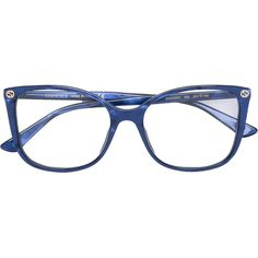b4bc005501b253 Gucci Eyewear thin rectangular frame glasses ( 245) ❤ liked on Polyvore  featuring accessories