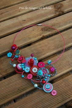 """*NEW* Collier Boutons """"Sweet September"""""""