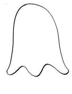 This is a picture of Adorable Ghost Outline Printable