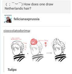 Hetalia - Netherlands hair = Tulip