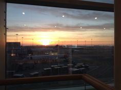 Departure from Copenhagen airport early in the morning