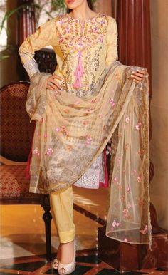 Shirt: Fabric: Printed cotton lawn shirt with embroidered neckline. Pakistani Salwar Kameez, Patiala, Anarkali, Unique Dresses, Formal Dresses, Buy Salwar Kameez Online, Ethnic Gown, Pakistani Outfits, Indian Fashion
