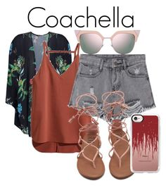 """""""Coachella"""" by kelseywalters555 on Polyvore featuring Boohoo, Fendi and Casetify"""