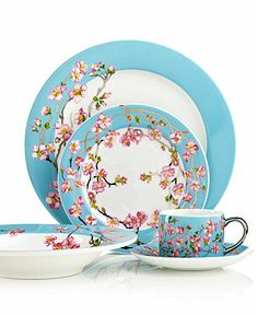 Cru Dinnerware, Madison Collection; Cru's Madison dinnerware is designed and named for Madison Arnold, a young girl who dreamed of seeing New York but succumbed to leukemia at age 14. Lush cherry blossoms recall the gorgeous branches covering Madison Square Park every spring