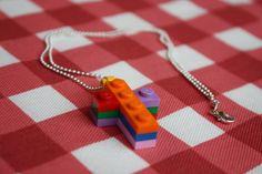 Lego Puzzle Cross Necklace handmade by Little Tin Goddess Creations   Jewellery jewelry handmade