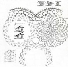 Solo esquemas y diseños de crochet: tapetes/centros de mesas