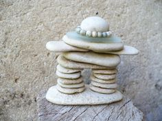STONE MAN Inuksuk beach stone sculpture cairn style by madeforfun