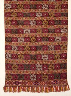 """Apron with a pattern of """"thymiata"""" from Soufli, Thrace. Early 20th c.  © Peloponnesian Folklore Foundation, Nafplion, Greece"""