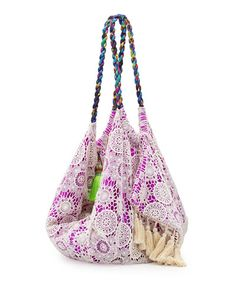Bohemian Bag Boho Beach Bag Big Purse Purple Gypsy Bag Tassel Neon Green Fashion Womens Fashion Outfit Ideas Accessory Bikini Material Recycled Bag Floral