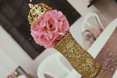 Princess Glam Baby Shower | CatchMyParty.com