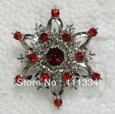 12 pcs Bright Red Rhinestone brooch jewelry gift,fashion brand brooch,Party Bride Bridesmaid Wedding Crystal brooch pin C461 US $22.09