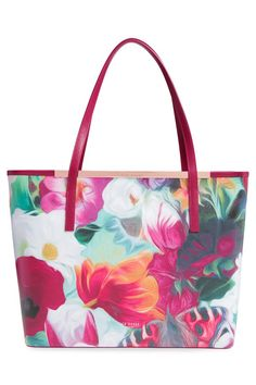 STYLEeGRACE ❤'s this Ted Baker London Lillyia Floral Swirl Printed Leather Shopper!
