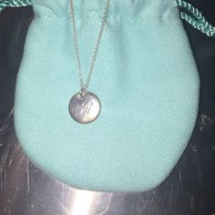 Tiffany notes alphabet disc charm pendant chain letter tiffany flash sale a initial necklace aloadofball Gallery