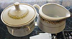 Signature Queen Anne Cup Sugar W/ Lid & Creamer Set