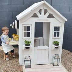 Project Nursery - Outdoor Playhouse for Kids DIY Playhouse Renovation - Photo