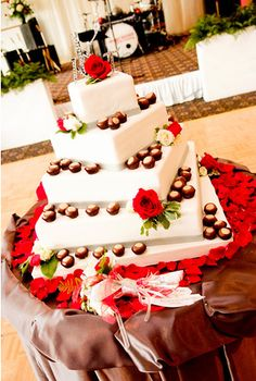 wedding cake, buckeyes, Ohio State, Wendy Kromer Confections
