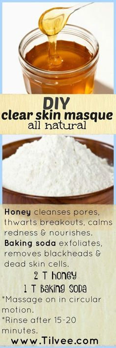 Having clogged pores reflects poor personal hygiene and this DIY face mask for pores helps remedy that. This baking soda and honey face mask deep cleans for an even, radiant skin.