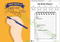 Pencil Themed - Book Report Template and Poster