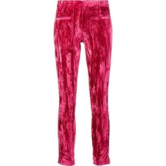 Haider Ackermann Stripe Detail Skinny Trousers ($2,350) ❤ liked on Polyvore featuring pants, pink, genuine leather pants, leather pants, haider ackermann, pink skinny pants and leather trousers