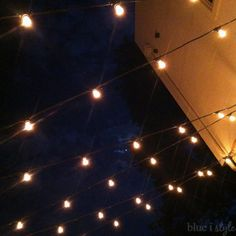 String Lights From Blue I Style