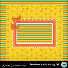 Digital Scrapbooking Kits | Sunshine and Positivity qp1-(LinsCre) | Family, Friends, Kid Fun, Memories, Seasons - Summer | MyMemories