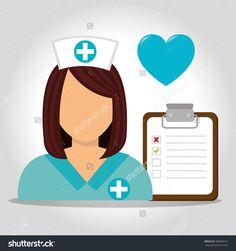 Avatar Woman Nurse Стоковое векторное изображение 488030641 : Shutterstock
