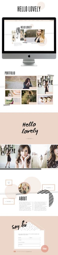 NEW Hello Lovely style group. Designed by Meg Long Creative. Part of the Spring 2014 Designer Luxe Collection.  http://www.sitehousedesigns.com/#/hellolovely/