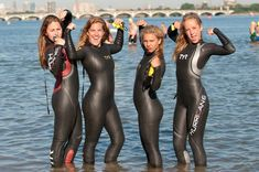 Triathlon Women, Triathlon Wetsuit, Scuba Girl, Diving Suit, Swimming Diving, Womens Wetsuit, Leather Shorts, Girls Jeans, Second Skin