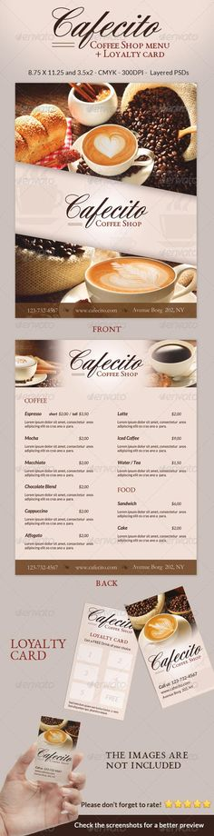 Coffee shop flyer \ menu - photos included - coffee shop brochure template