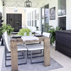 Pool Patio Furniture, City Furniture, Dining Furniture, Outdoor Furniture Sets, Outdoor Spaces, Outdoor Living, Outdoor Decor, Modern Farmhouse Kitchens, Farmhouse Decor