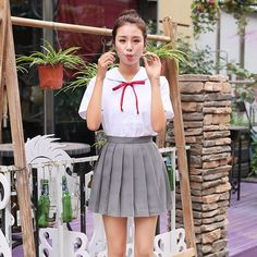Japonais 2016 nouvelle marque filles jupes plissées écolières jupe uniformes cos…