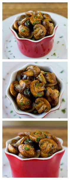 Balsamic Mushrooms and Onions are perfect on the side of steak or chicken, and you can make them while your meat rests under a tent of foil. Naturally gluten free and vegan. Think Food, I Love Food, Side Dish Recipes, Vegetable Recipes, Balsamic Mushrooms, Balsamic Onions, Balsamic Chicken, Tasty Vegetarian, Clean Eating